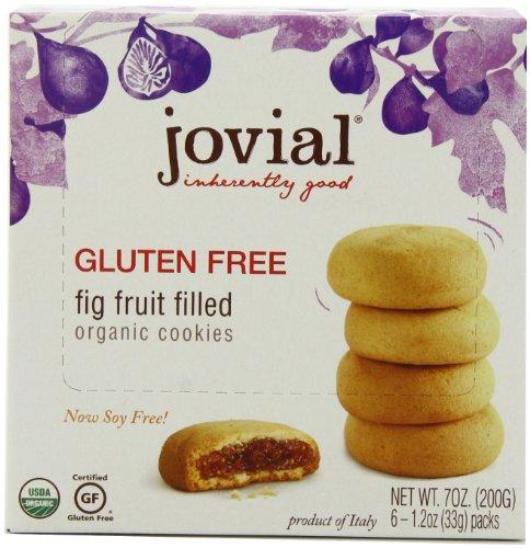 Jovial Fig Fruit Filled Gluten Free Organic Cookies, 7 Oz. (Pack of 5)