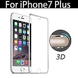 2win2buy iPhone7 Plus 用 フルカバー 「全面ガードシリーズ」アルミフレーム 強化ガラス液晶保護フィルム 3D全面保護 表面硬度9H 飛散防止 防指紋 強化ガラスフィルム 3Dtouch対応ガラスフィルム (iPhone7Plus 用,シルバー)