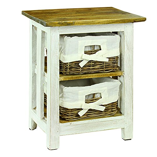 Nina Night Stand/End Table (White Basket Stand compare prices)