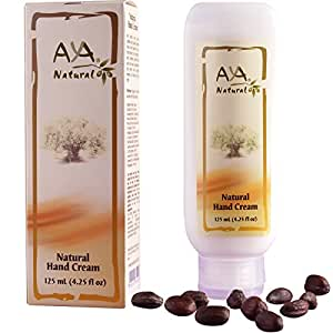 Aya Natural Best Hand Cream Natural Lotion Vegan Premium Rich Non Greasy Dry Cracked Skin Moisturizer For Men & Women Shea Butter, Olive, Jojoba, Tea Tree & Lemon Oils Blend
