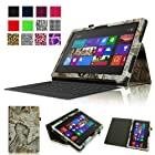 Fintie Folio Case for Microsoft Surface RT / Surface 2 10.6 inch Tablet Slim Fit with Stylus Holder (Does Not Fit Windows 8 Pro Version) - Map Design