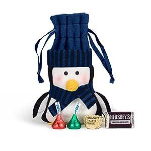 Christmas Gifts Felt Penguin HERSHEY'S Chocolate Bag (Blue)