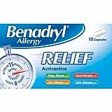 HayMax Benadryl Allergy 12 Allergy & Hayfever Relief Capsules