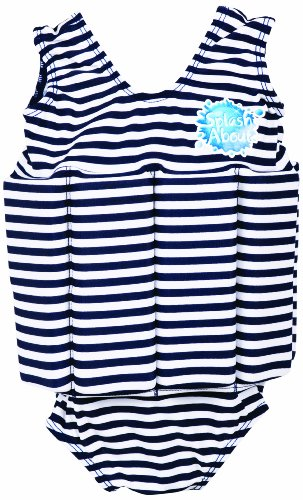 Splash About Float Suit With Adjustable Buoyancy (Swimwear), Navy & White Stripe, 1 To 2 Years front-437784