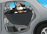 Knuffelwuff 12615 Auto Schondecke mit Seitenschutz für Hunde Auto Sitzschutz