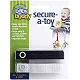 Baby Buddy Secure-A-Toy, Black/White