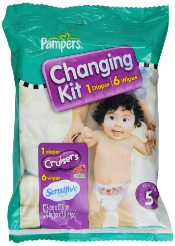 Pampers Cruisers Changing Kit, Size 5, Unscented, (Pack of 10) - 1