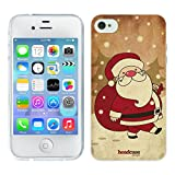 Head Case Designs Santa Claus Christmas Classics Gel Back Case Cover for Apple iPhone 4 4S