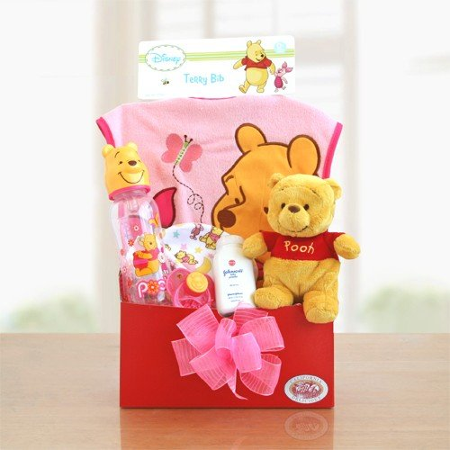 Welcome Home Baby Boy! Baby Gift Basket For Girls front-49242