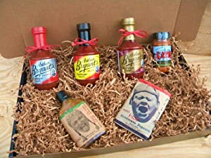 Arthur Bryants Barbecue Sauce Deluxe Gourmet Box Set Includes Bottles Of Sauces Kc Seasoning Rub Honey Cayenne Hot Sauce Boldspicy Popcorn by Arthur Bryants, Gates KC, & Pain is Good