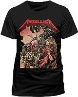Live Nation Men's Metallica - Four Horsemen Crew Neck Short Sleeve T-Shirt