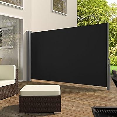 TecTake Seitenmarkise Sonnenschutz Sichtschutz Windschutz Aluminium 160x300cm schwarz von TecTake auf Gartenmöbel von Du und Dein Garten