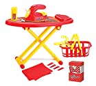 Family Little Helper Ironing Board Playset Toy for Kids with Iron and Laundry Basket Set