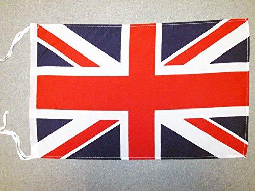 BANDIERA REGNO UNITO 45x30cm - BANDIERINA BRITANNICA - INGLESE - UK 30 x 45 cm cordicelle - AZ FLAG
