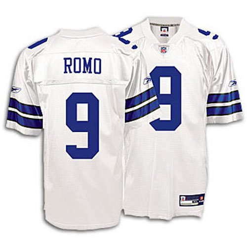 finest selection c3ebf 12c32 Amazon.com : Reebok Dallas Cowboys Tony Romo Replica White ...