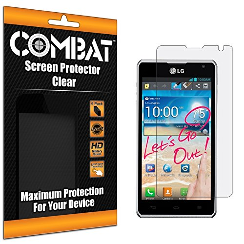 Cell Accessories For Less (Tm) Combat 6 Pack Hd Clear Screen Protector For Lg Spirit 4G Ms870 + Bundle (Stylus & Micro Cleaning Cloth) - By Thetargetbuys