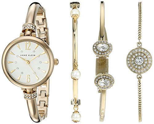 anne-klein-womens-ak-2336gbst-swarovski-crystal-accented-gold-tone-bangle-watch-and-bracelet-set