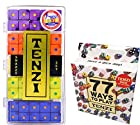 Tenzi Dice Game - Snazzy Set Pearl, with 77 Ways to Play Tenzi Instruction Pack