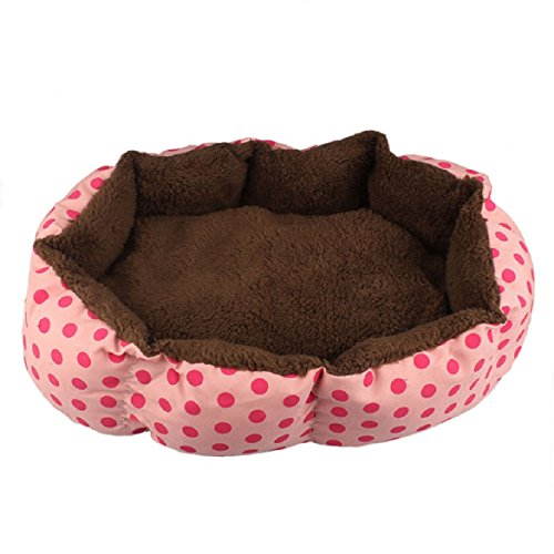 Sandistore Soft Fleece Pet Dog Puppy Cat Warm Bed House Plush Cozy Nest Mat Pad(Pink)