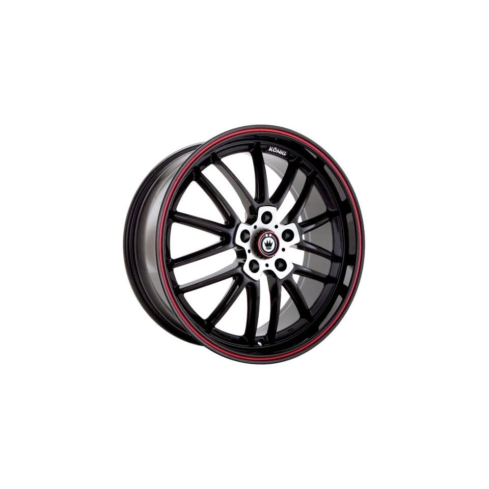 Konig Again 5 Gloss Black Wheel with Machined Red Stripe (17x8/5x114.3mm)