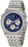 Rotary GB0010052 Stainless Steel Chronograph Blue Dial Bracelet Watch