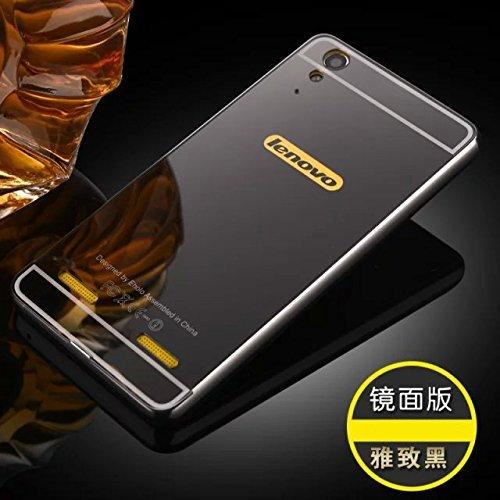 check out 1f471 b8276 SDO™ Metal Bumper Frame Case with Acrylic Mirror Back Cover Case for Lenovo  A7000 Plus / Lenovo K3 Note - Black