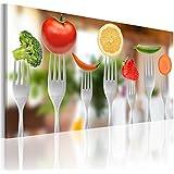 Nouveauté + 40x20 cm + tableaux sur verre + Tableau sur verre + surface brillante + netteté parfaite et profondeur des couleurs extraordinaire CUISINE ALIMENTATION 030107-11