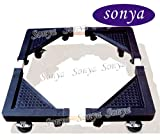 Sonya High Quality Multi-functional Movable Adjustable Base with Casters Mobile Case for Washing Machine, Dryer and Refrigerator, Cabinet