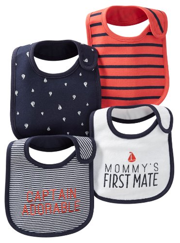 Carter's Bibs - Navy/Red Boat - Boy - 4 ct
