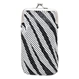 Zebra Soft Mesh/Sequin Fashion Cigarette Case Holds up to 100 mm