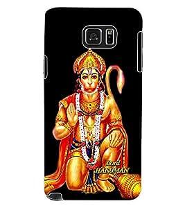 ColourCraft Lord Hanuman Design Back Case Cover for SAMSUNG GALAXY NOTE 5
