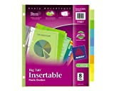 Avery  Big Tab Insertable Plastic Dividers,  8-Tab Set, 1 Set (11901)