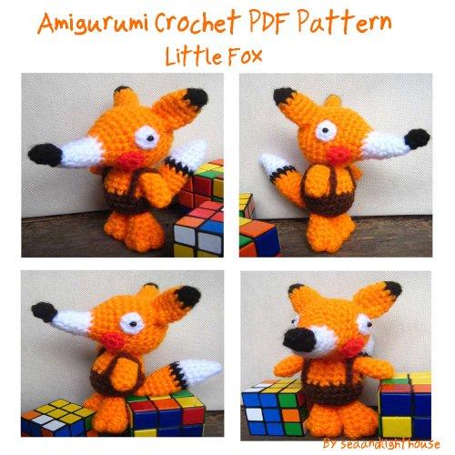 Little Fox Amigurumi : Fox Knitting and Crochet Patterns