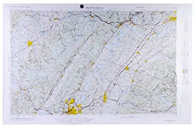 "American Educational Tennessee Chattanooga Map without Frame, 31"" Length x 21"" Width by American Educational"