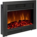 "Best Choice Products® 28.5"" Embedded Fireplace Electric Insert Heater Glass View Log Flame Remote Home"