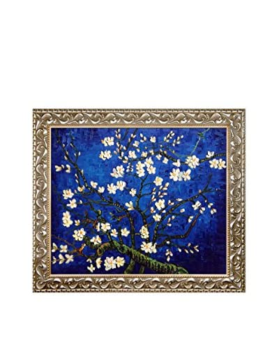 Vincent van Gogh Branches Of An Almond Tree In Blossom (Sapphire Blue) Framed Hand-Painted Oil Rep...