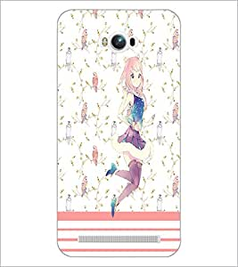 PrintDhaba Dancing Girl D-1110 Back Case Cover for ASUS ZENFONE MAX ZC550KL (Multi-Coloured)