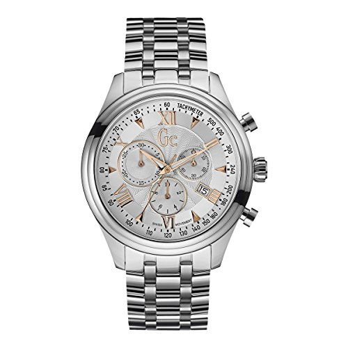 Guess Collection Men's 44mm Chronograph Mineral Glass Quartz Date Watch Y04006G1