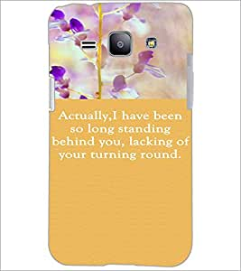 PrintDhaba Quote D-3722 Back Case Cover for SAMSUNG GALAXY J1 (Multi-Coloured)