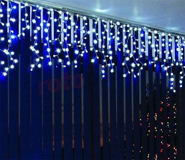 Weihnachtsbeleuchtung LED-Eiszapfen Lichtervorhang für Innen kaltweiß 100 Stck. 5 m Bulinex 37-632