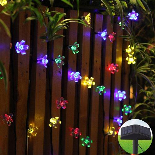 Innoo Tech Led Solar Fairy String Lights Outdoor Twinkle 80 Blossom Flower for Christmas Tree ...