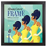Album Frame Sized 12.5 x 12.5 inches - Made to Display Standard Album Covers, Vinyl Covers, Record Covers and LPs - Perfect Square Frame for Album Covers and Scrapbooking