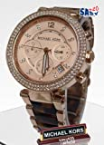 Michael Kors Womens MK5538 Parker Tortoise & Rose Gold-Tone Watch
