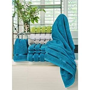Monroe 6-Piece Turkish Cotton Towel Set , Color Blue