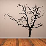 Bare Tree Wall Sticker Halloween Wall Decal Art available in 5 Sizes and 25 Colours Large Fuchsia Pink