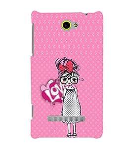 EPICCASE Nerdy Girl Mobile Back Case Cover For HTC Windows Phone 8S (Designer Case)