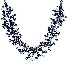 Valero Pearls - Collar de perlas embellecido con Perlas de agua dulce - 925 Plata esterlina - Pearl Jewellery, Cadena de Plata esterlina, Joyería de plata - 120314