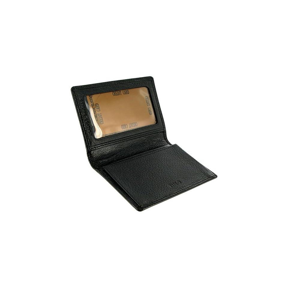 MW580BK 3 x 4 Mens Leather Credit Card Holder