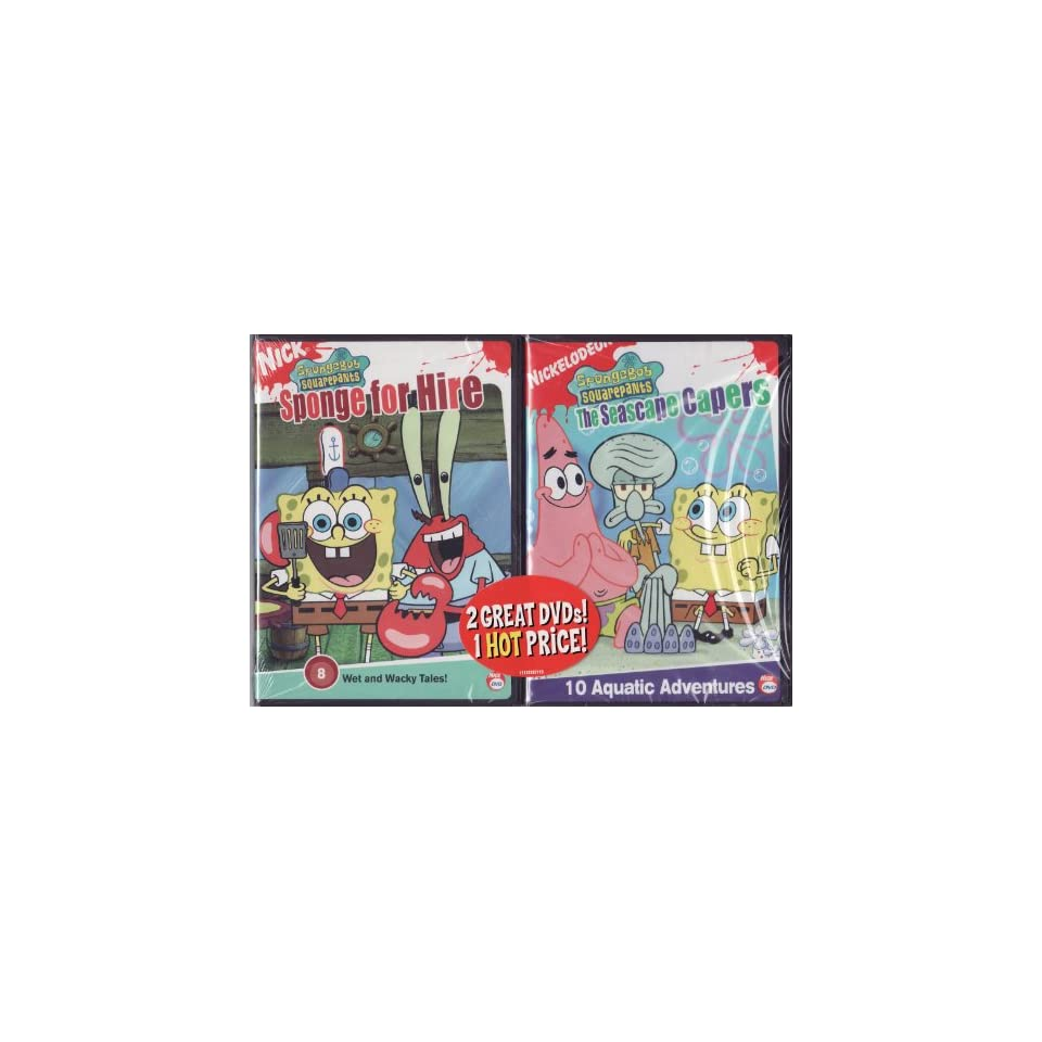 Nick Jr. LIMITED EDITION 2 DVD Set Spongebob Squarepants