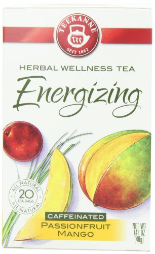Teekanne Energizing Passion Fruit Mango, 20-Count Boxes (Pack Of 6)
